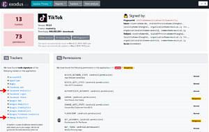 TikTok - Exodus Privacy