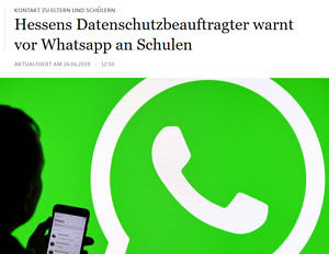 WhatsApp-Warnung